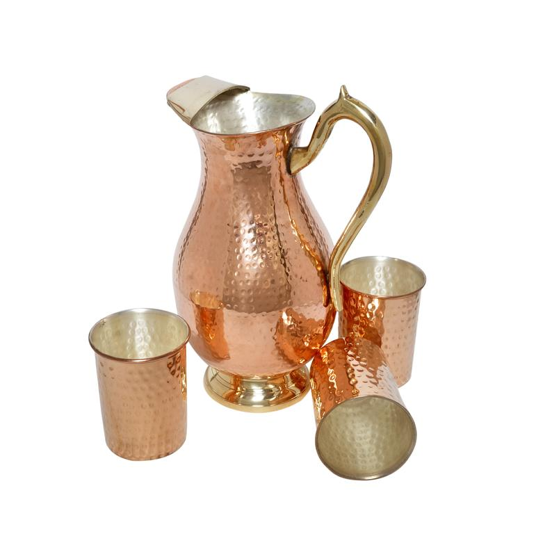 Copper Water Pitcher - Everything Else