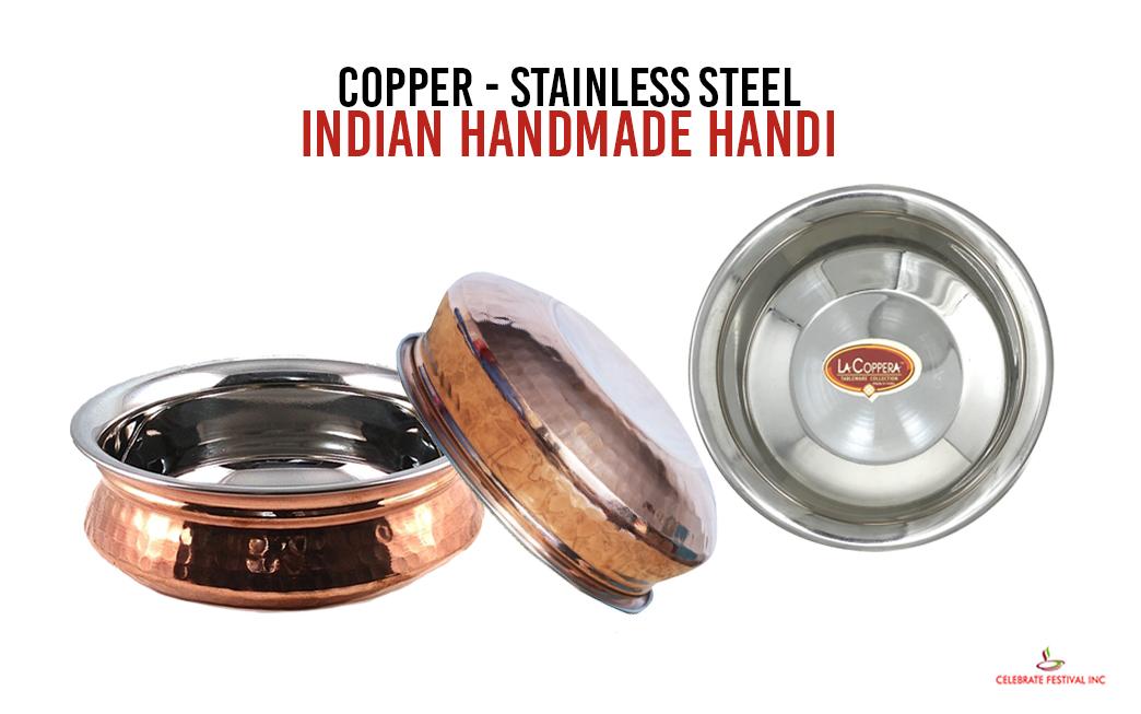 Hammered Copper Steel Handi