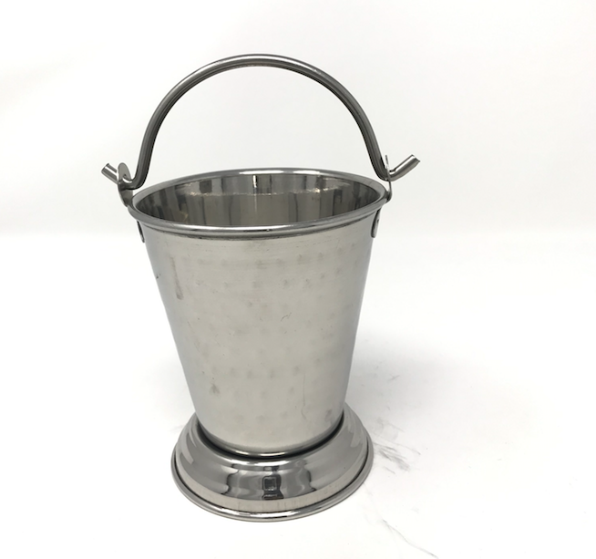Hammered Stainless Steel Serving Bucket