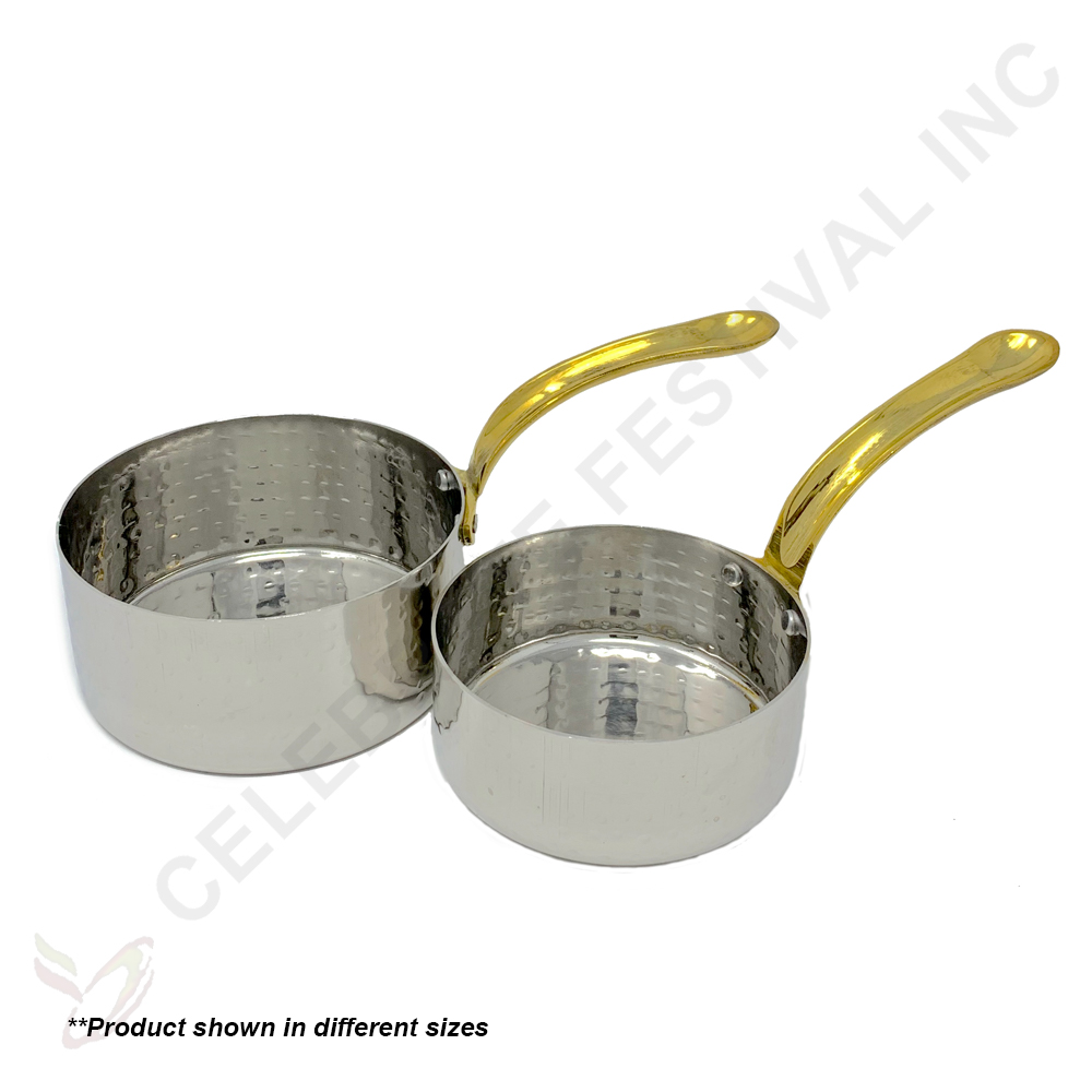 Hammered Stainless Steel Sauce Pan