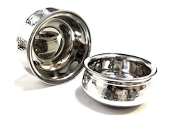 Hammered Stainless Steel Handi Bowl